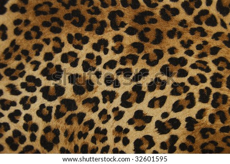 background cloth as a leopard