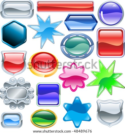 Background colourful web design elements ready for you to add messages or icons. No blends or meshes used