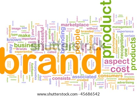 Background concept illustration of brand product marketing
