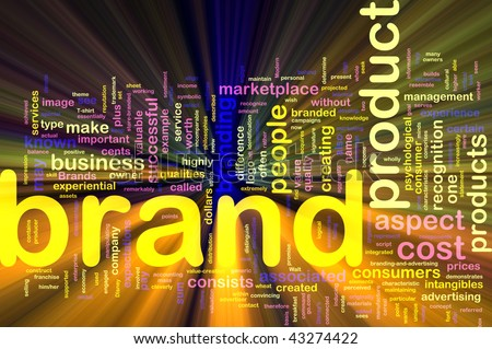 Background concept illustration of brand product marketing glowing light effect
