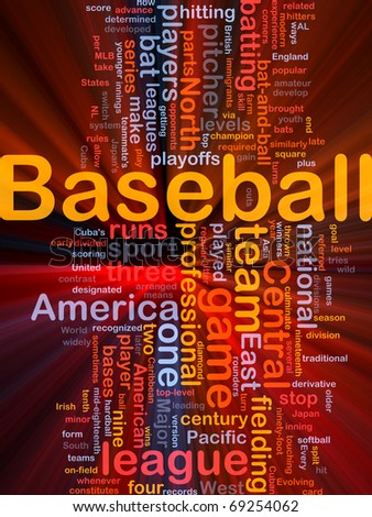 Background concept illustration of business baseball sports glowing light