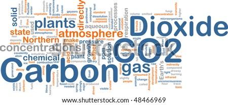 Background concept illustration of carbon dioxide co2 gas
