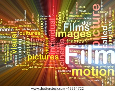 Background concept illustration of film motion picture glowing light effect