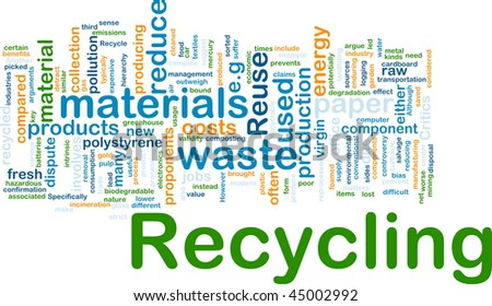 Background concept illustration of recycling waste materials