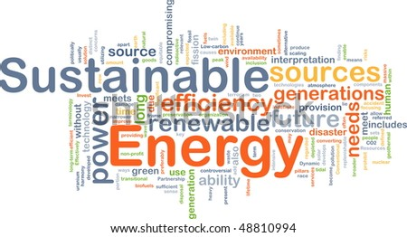Background concept illustration of sustainable energy power