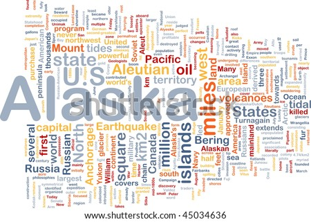 Background concept wordcloud illustration of Alaska American state