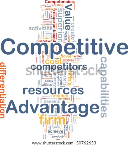Background concept wordcloud illustration of business competitive advantage