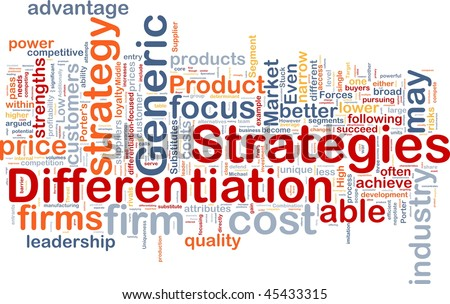 strategies for small business differentiation essay Woolworth's business strategy  the importance of business-level strategies is that it ensures that entities use their  in a study using a sample of uk small.