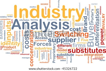 Background concept wordcloud illustration of business industry analysis