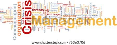 Background concept wordcloud illustration of crisis management