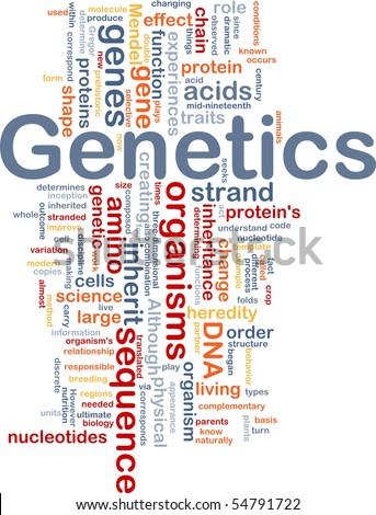 Background concept wordcloud illustration of genetics dna genes