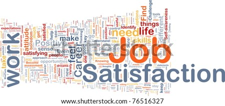 Background concept wordcloud illustration of job satisfaction