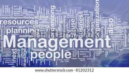 Background concept wordcloud illustration of management international