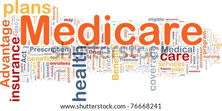 Background concept wordcloud illustration of medicare