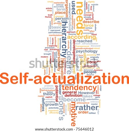 Background concept wordcloud illustration of self-actualization