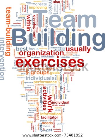 Background concept wordcloud illustration of team buliding - stock photo