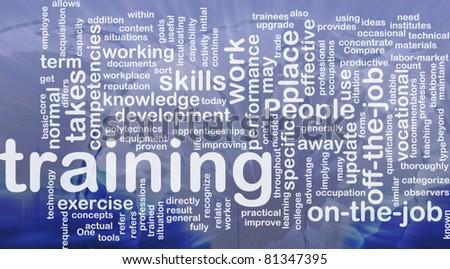 Background concept wordcloud illustration of training international