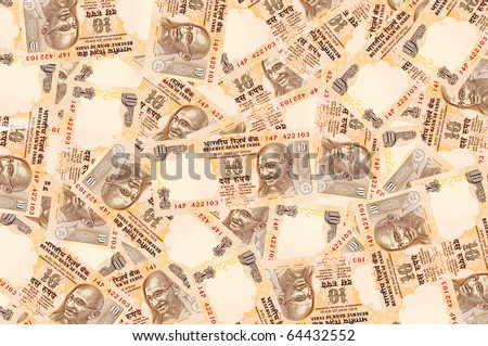 Background created with Indian Rupee notes