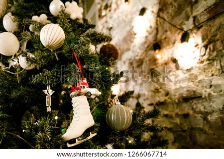background decorated with Christmas garlands Zdjęcia stock ©