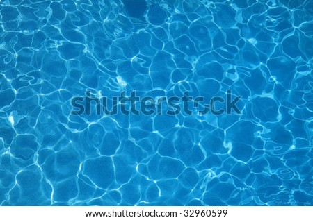 Background deep Blue pool water