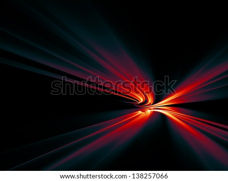 Background design of motion trails in perspective on the subject of science and technology