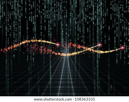 Background design of numbers and design elements on the subject of computers, science, math and modern technology