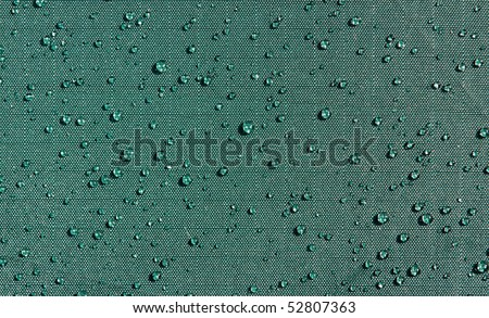 background: drop in water-repellent fabric