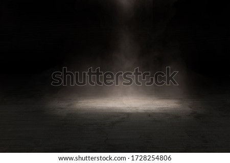 background empty dark room texture concrete with fog.