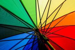 background fabric texture of Colorful umbrella