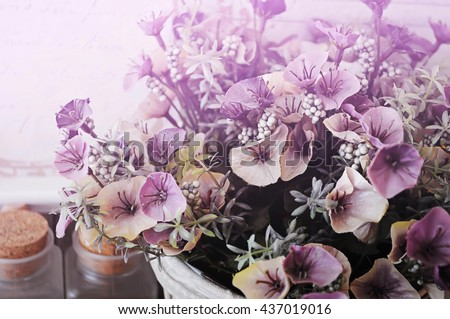 Background Fake flowers for decorating your home.