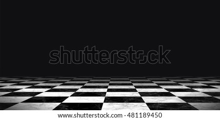 background floor pattern in perspective with a chess board design