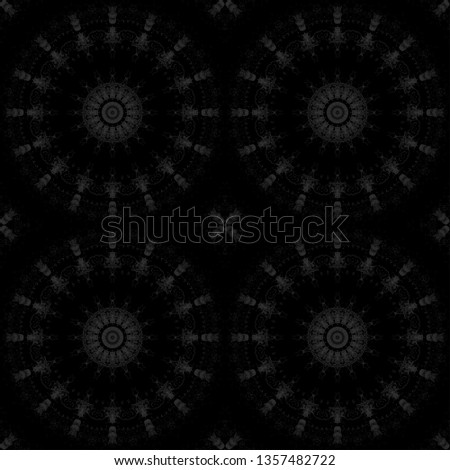 background floral pattern geometric kaleidoscope monochrome abstract. cover.