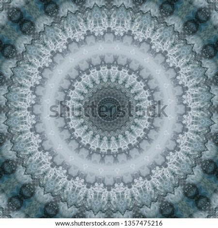 background floral pattern geometric kaleidoscope monochrome abstract. decor phone.