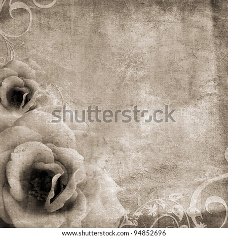 Background for congratulation or invitation with roses