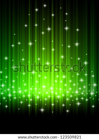 Background for text. Abstract rays and stars.