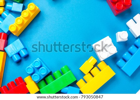 Background from a children's plastic toy kit with a place for inscriptions #793050847