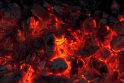 background from a fire, conflagrant firewoods and coals