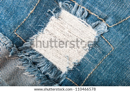 Background from a jeans fabric