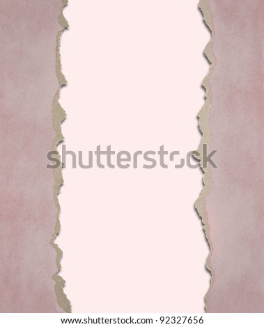 Background from a paper with the torn edges