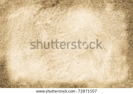 Background from a stone wall with frame.