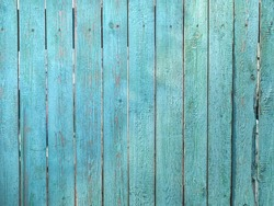 Background from a wooden fence of blue color