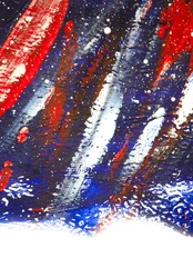 Background from different strokes of red,white and blue paint