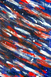 Background from different strokes of red, white and blue paint brush