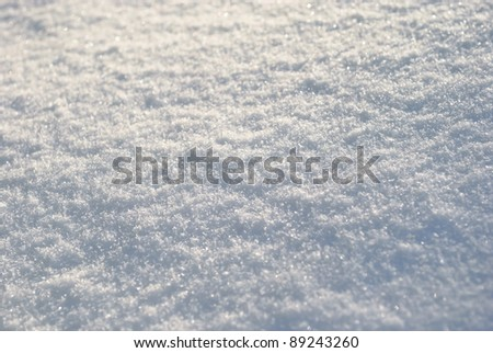 background from fresh and sparkling white snow