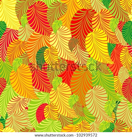 Background from leaves. Illustration