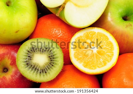 Background from many different fruits  #191356424