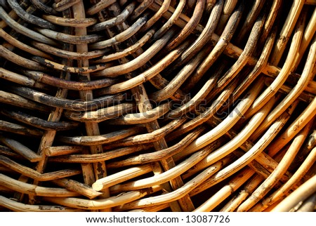 background from natural rattan. Handmade weaving