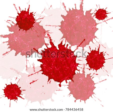 background from red blots #784436458