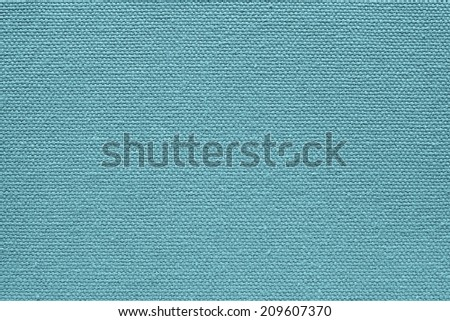 background from  textile fabric of a canvas of turquoise color with abstract texture from interlacings
