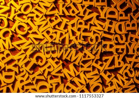 background from the letters of the alphabet. abstraction from letters. letters of the alphabet. #1117553327